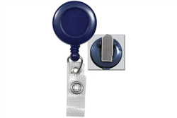 Blue Badge Reel with Reinforced Vinyl Strap & Spring Clip (QTY 100)