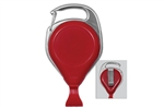 Red Proreel (Carabiner Style) with Card Clip & Belt Clip (QTY 100)