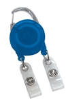 Translucent Royal Blue Dual Strap Carabiner Reel (QTY 100)