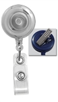 Translucent Clear Badge Reel with Clear Vinyl Strap & Swivel Spring Clip (QTY 100)