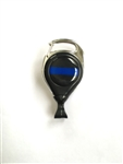 Thin Blue Line Carabiner Badge Reel