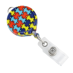 Autism Awareness Badge Reel (QTY 100)