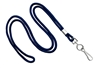 "Navy Blue Round 1/8"" Standard Lanyard W/ Nickel Plated Steel Swivel Hook (100 Quantity)"