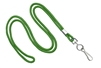 "Green Round 1/8"" Standard Lanyard W/ Nickel Plated Steel Swivel Hook (100 Quantity)"