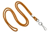 "Orange Round 1/8"" Standard Lanyard W/ Nickel Plated Steel Swivel Hook (100 Quantity)"