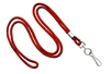 "Red Round 1/8"" Standard Lanyard W/ Nickel Plated Steel Swivel Hook (100 Quantity)"