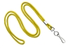 "Yellow Round 1/8"" Standard Lanyard W/ Nickel Plated Steel Swivel Hook (100 Quantity)"