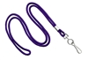 "Purple Round 1/8"" Standard Lanyard W/ Nickel Plated Steel Swivel Hook (100 Quantity)"