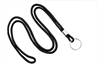 "Black Round 1/8"" (3 mm) Lanyard W/ Nickel Plated Steel Split Ring 2135-3101"