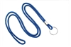 "Royal Blue Round 1/8"" Lanyard W/ Nickel Plated Steel Split Ring 2135-3102"