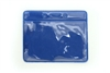 Royal Blue Vertical Vinyl Color-Bar Badge Holder - Credit Card Size (QTY 100)