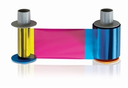 Fargo #84056 YMCK color ribbon 500 prints with Two Resin Black Pan