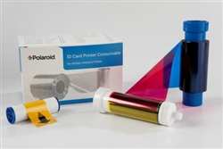 Polaroid Color Front, Black Resin Back Ribbon (YMCKOK) Ribbon 9-PL250YMCKOK
