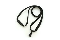 "Black 3/8"" Lanyard With Breakaway And ""twist-free"" Wide Plastic Hook (QTY 100)"