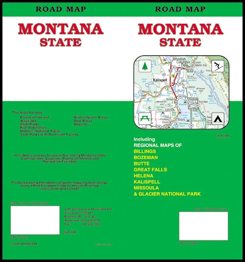 MONTANA STATE MAP