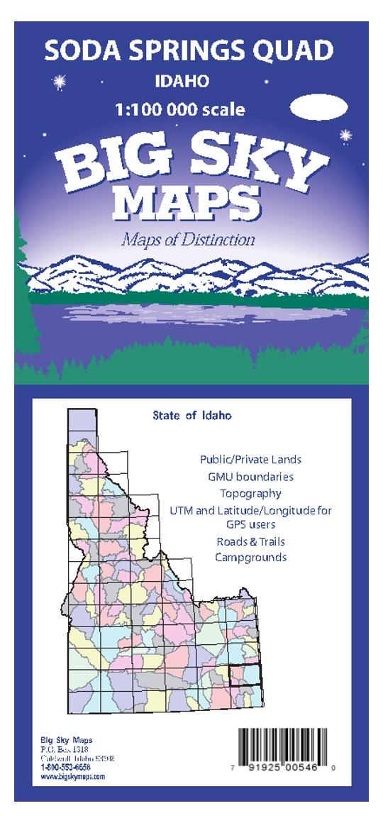 Soda Springs Quadrangle Map