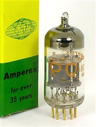 NOS 1968 AMPEREX 6201 ECC801S 12AT7 WEST GERMAN MADE SOLID-GETTER GOLD PIN TUBE