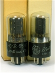 NOS KEN-RAD 6SN7-GT VT-231 Ken Rad BLACK BASE MATCHED PAIR