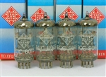 "PRIVATE STOCK WORLD'S BEST ""BWB"" MILITARY ISSUE TELEFUNKEN ECC801S 12AT7 ECC81 NOS PLATINUM MATCHED QUAD 3-MICA"