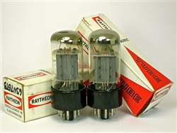 RAYTHEON 6SN7 GT MATCHED PAIR NOS tall bottle