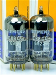WORLD'S BEST SIEMENS E88CC 6922 PLATINUM MATCHED PAIRS
