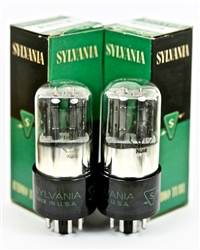 SYLVANIA NOS 6SN7GT 6SN7 LowNoise Matched BLACK PLATE Tubes 1940 for Cary SLP 05
