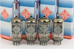Telefunken < > Diamond ECC83 / 12AX7 Smooth Platinum Low Noise QUAD