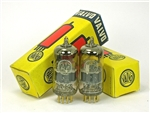 "NOS 1960s VALVO E88CC 6922 GOLD PIN PAIR AMPLITREX-TESTED MUSEUM-CERTIFIED ""BWB"""