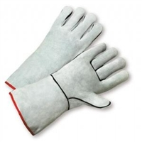 Grey Leather Welders Gloves
