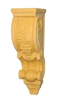 Resin Large Carved Grape Corbel