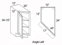 "Parkview Cabinets 12""(w) x 34-1/2""(h) x 24""(d) RTA Angle Base Transition Cabinet"