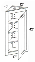 "Parkview Cabinets 42""(h) x 17""(w) x 12""(d) RTA Angle Wall Cabinet"