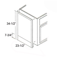 "Parkview Cabinets 23-1/2""(w) x 34-1/2""(h) x 3/4""(d) RTA Matching Base End Panel"