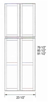 "Parkview Cabinets 85-1/2""(h) x 23-1/2""(w) x 3/4""(d) RTA Matching Tall End Panel"