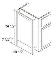 "Parkview Cabinets 34-1/2""(h) x 20-1/2""(w) x 3/4""(d) RTA Tall Matching Vanity End Panel"
