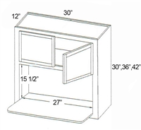 "Parkview Cabinets 42""(h) x 30""(w) x 12""(d) RTA Microwave Wall Cabinet"
