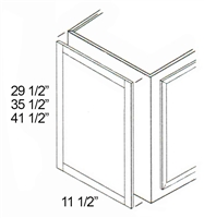 "Parkview Cabinets 41-1/2""(h) x 11-1/2""(w) x 3/4""(d) RTA Matching Wall End Panel"