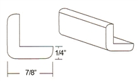"Parkview Cabinets 1/4""(h) x 7/8""(w) x 96""(L) Outside Corner Moulding"