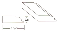 "Parkview Cabinets 3/8""(h) x 1-1/4""(w) x 96""(L) Large Scribe Moulding"