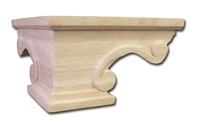 Scroll Pedestal Foot Corner - Cherry
