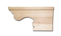 Scroll Pedestal Foot Right - Cherry