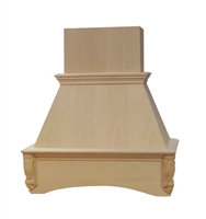 "30"" Acanthus Style Wood Chimney Hood"