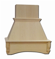 "36"" Acanthus Style Wood Chimney Hood"