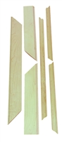 "Castlewood Chimney Trim Kit for 30"" Range Hood - Hickory"