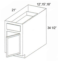 "Parkview Cabinets 34-1/2""(h) x 12""(w) x 21""(d) RTA Tall Vanity Base Cabinet"