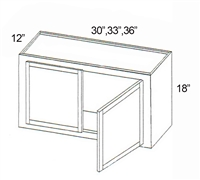 "Parkview Cabinets 18""(h) x 30""(w) x 12""(d) RTA Wall Cabinet"