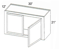 "Parkview Cabinets 21""(h) x 30""(w) x 12""(d) RTA Wall Cabinet"