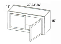"Parkview Cabinets 15""(h) x 33""(w) x 12""(d) RTA Wall Cabinet"
