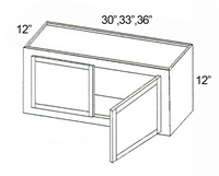 "Parkview Cabinets 12""(h) x 36""(w) x 12""(d) RTA Wall Cabinet"