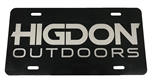 Painted Aluminum Logo License Plate-Black
